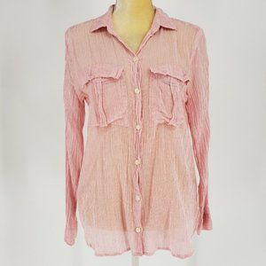 Aerie   Striped Crinkled Sheer Top - Small